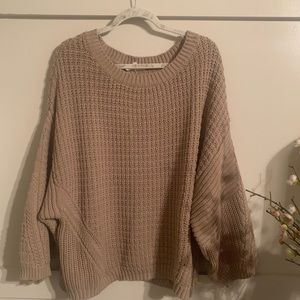 Comfy Taupe Sweater Size M